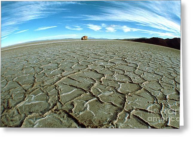 Uyuni Salt Flat, Bolivia Greeting Card