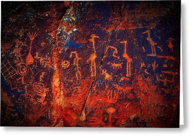 V-bar-v Petroglyphs Greeting Card