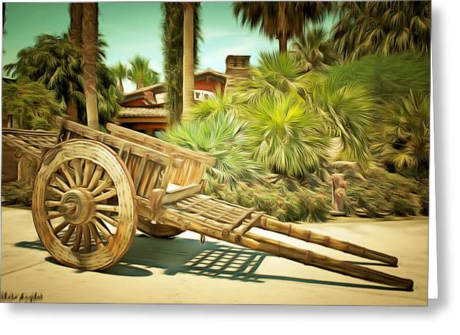 Wooden Hand Cart  Greeting Card by Barbara Snyder