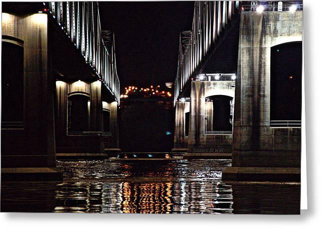 V Bridge Greeting Card