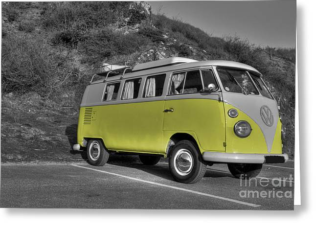 V-dub In Yellow  Greeting Card