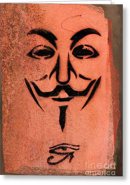 V For Vendetta Greeting Card by Gillian Singleton