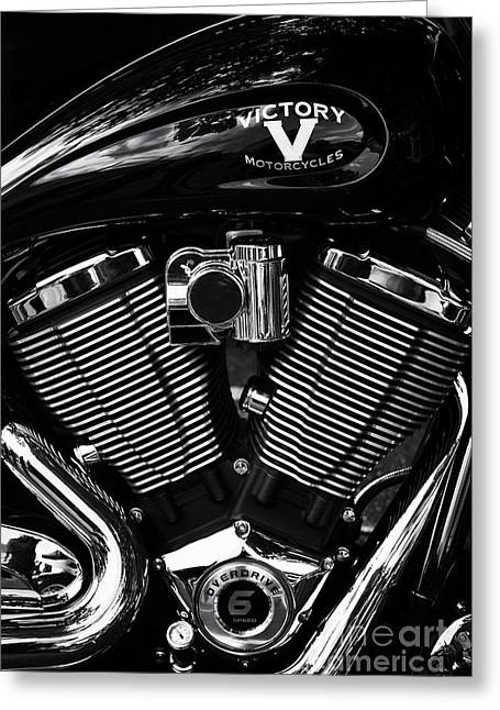 V For Victory Greeting Card by Tim Gainey