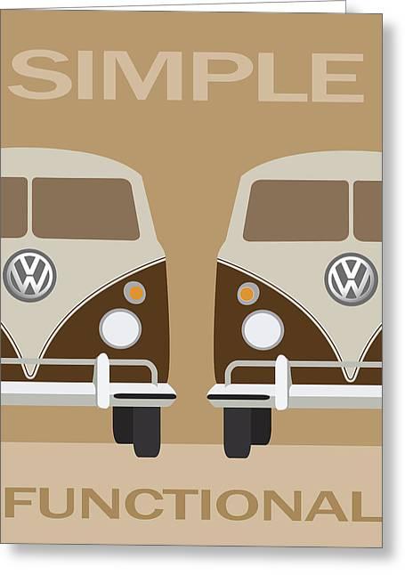 V W Simple Greeting Card by Daniel Hagerman