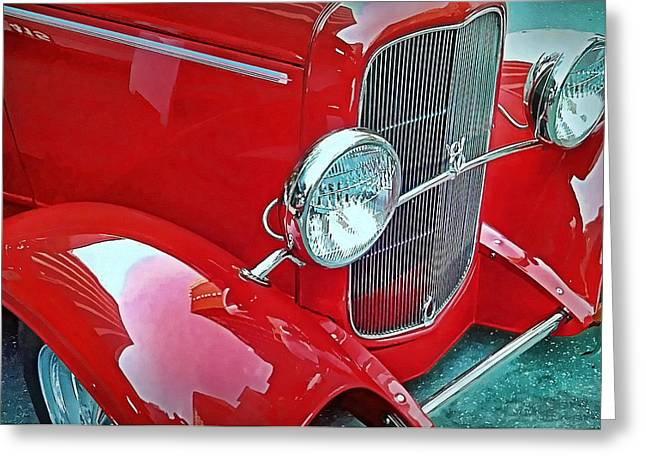 Greeting Card featuring the photograph V8 by Victor Montgomery