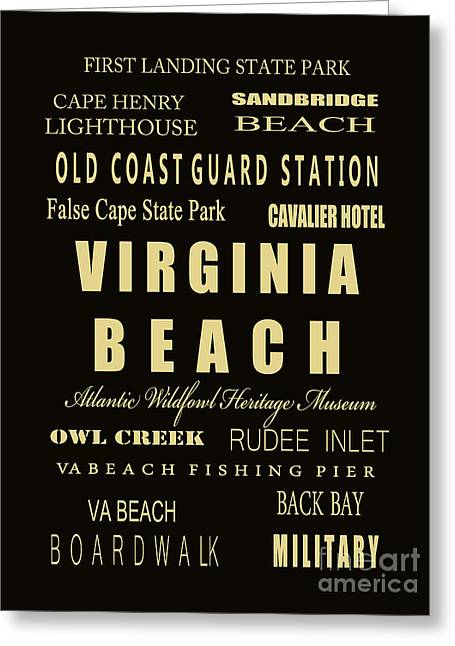 Va Beach Subway Bus Tram Scoll Typography Greeting Card