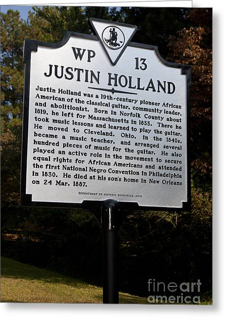 Va-wp13 Justin Holland Greeting Card
