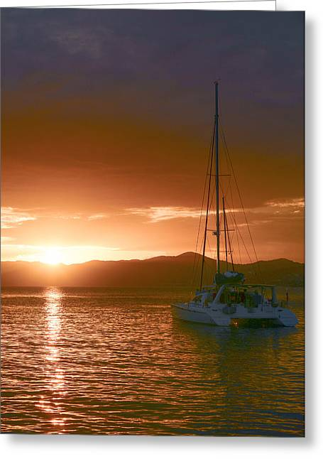 Vacation Sunset Greeting Card by    Michael Glenn