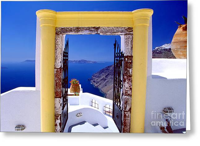 Vacations Gate Greeting Card
