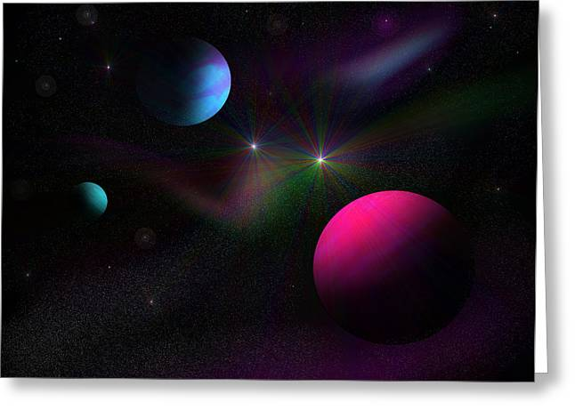 Vacuum Of Space Greeting Card by Ricky Haug