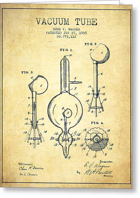 Vacuum Tube Patent From 1905 - Vintage Greeting Card by Aged Pixel
