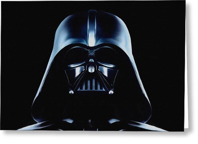 Vader Greeting Card by Jeff DOttavio
