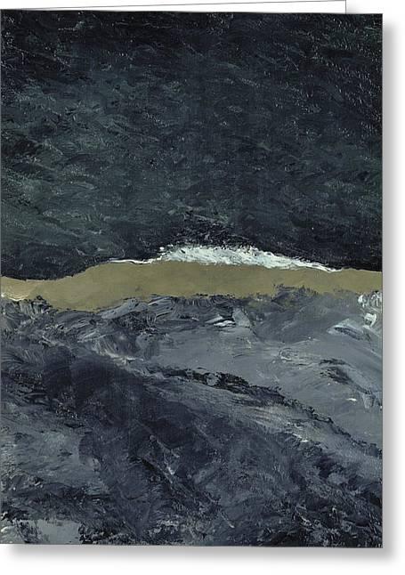 Vague Vii Greeting Card by August Johan Strindberg