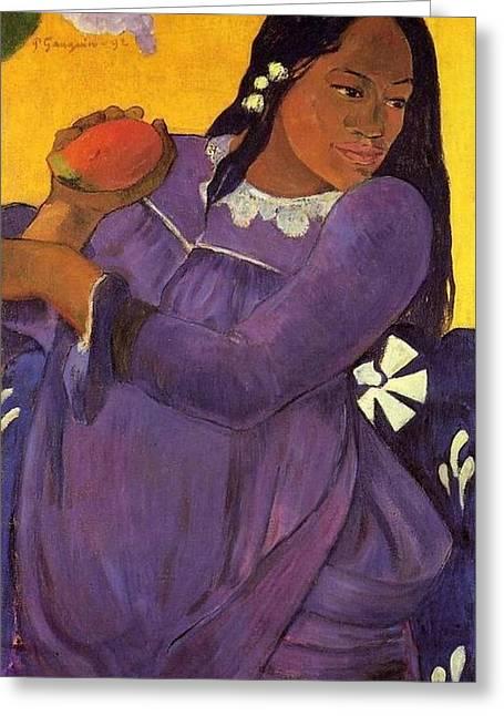 Vahine No Te Vi Greeting Card by Paul Gauguin