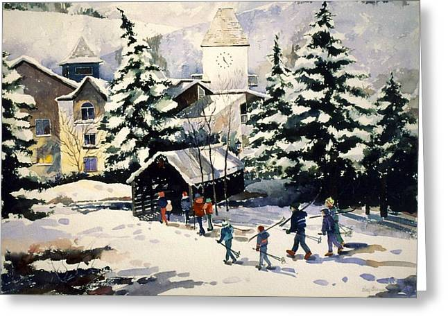 Vail Covered Bridge Greeting Card by Patty  Frierson