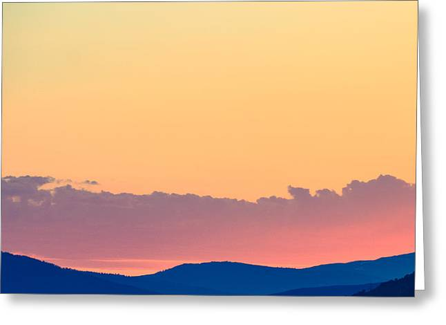 Vail Sunset Greeting Card