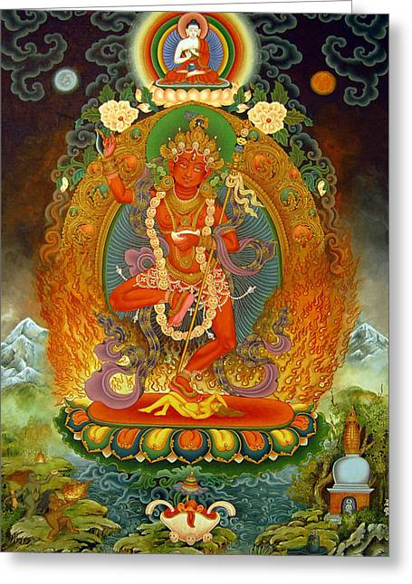 Vajravarahi Greeting Card