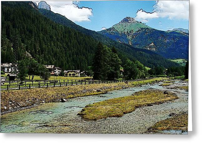 Greeting Card featuring the photograph Val Di Fassa by Zinvolle Art