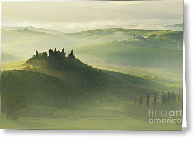 Val D'orcia Greeting Card by Jaroslaw Blaminsky