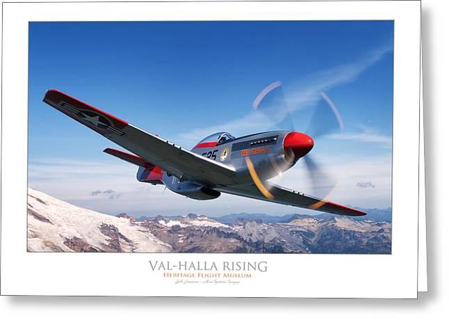 Val-halla Rising Greeting Card