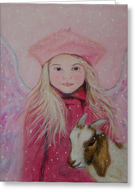 Valentina Little Angel Of Perseverance And Prosperity Greeting Card by The Art With A Heart By Charlotte Phillips