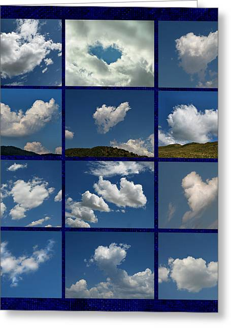 Valentine - Clouds For Sale Collage Greeting Card by Daliana Pacuraru