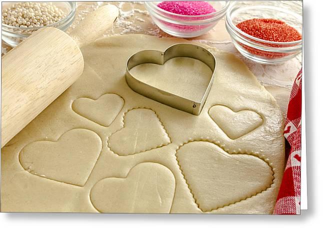 Valentine Cookie Love Greeting Card by Teri Virbickis
