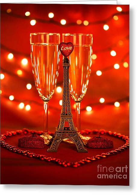 Valentine Day Beverage Greeting Card by Anna Om