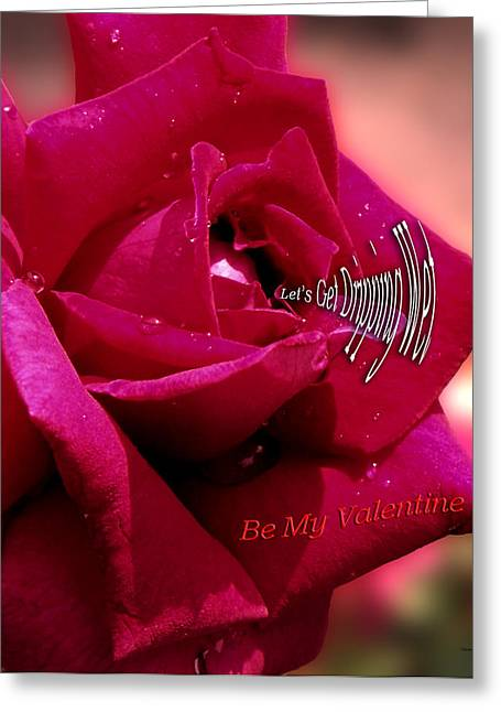 Valentine Dripping Wet Greeting Card by Thomas Woolworth