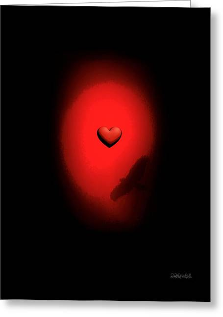 Valentine Heart 2 Greeting Card by Brian D Meredith