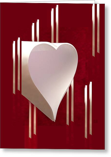 Valentine Paper Heart Greeting Card by Gary Eason