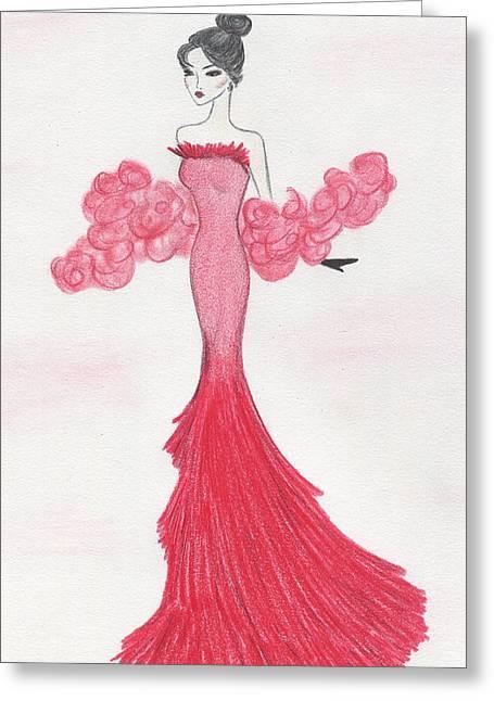 Valentine Red   Greeting Card by Christine Corretti