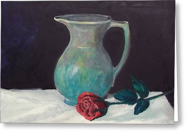 Valentine Rose Greeting Card by Peter Edward Green
