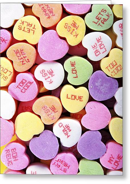 Valentines Sweetheart Candy Greeting Card by Norman Pogson