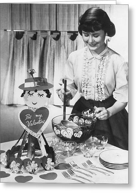 Valentine's Day Party Greeting Card by Underwood Archives