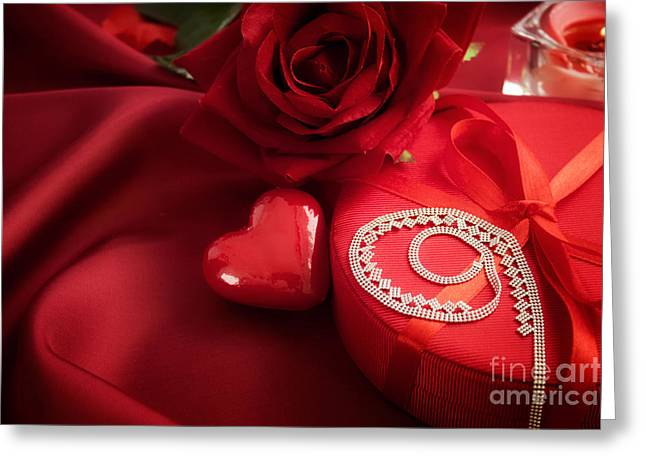 Valentine's Day Present Greeting Card by Mythja  Photography