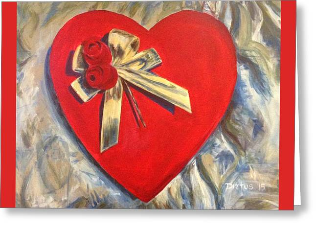 Valentine's Heart Greeting Card by Chrissey Dittus