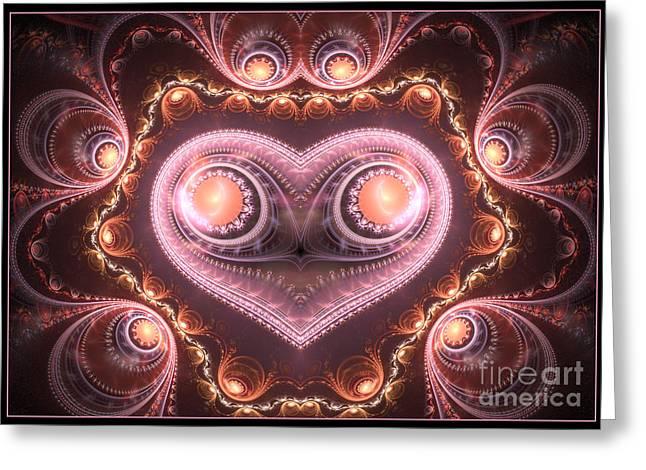 Valentine's Premonition Greeting Card by Svetlana Nikolova