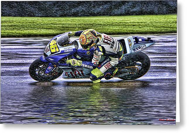 Valentino Rossi At Indy Greeting Card