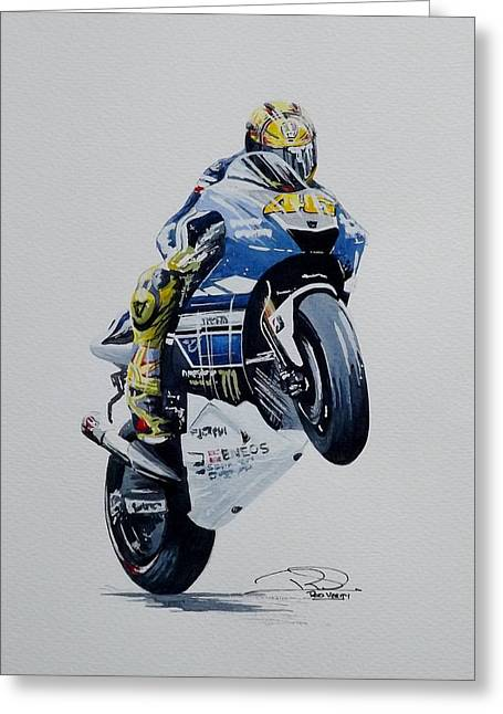 Valentino Rossi Painting by Rod Verity – Valentino Rossi Birthday Card