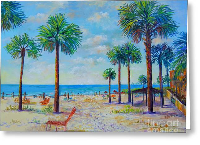 Valerie's View Of Siesta Key Greeting Card by Lou Ann Bagnall