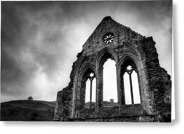 Valle Crucis Abbey Greeting Card by Dave Bowman