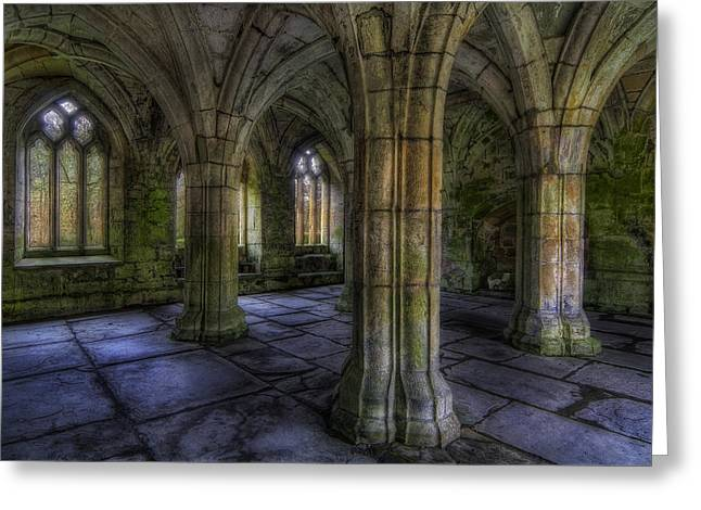 Valle Crucis Abbey Greeting Card by Ian Mitchell