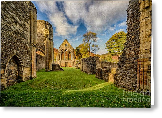 Valle Crucis Abbey Ruins Greeting Card by Adrian Evans