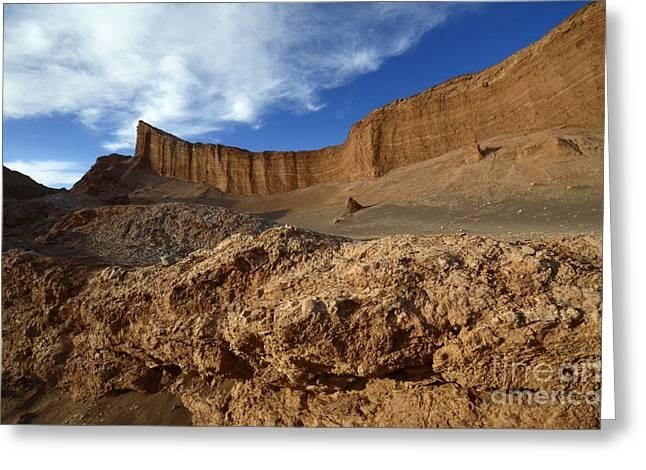 Valle De La Luna Chile 2 Greeting Card by Bob Christopher