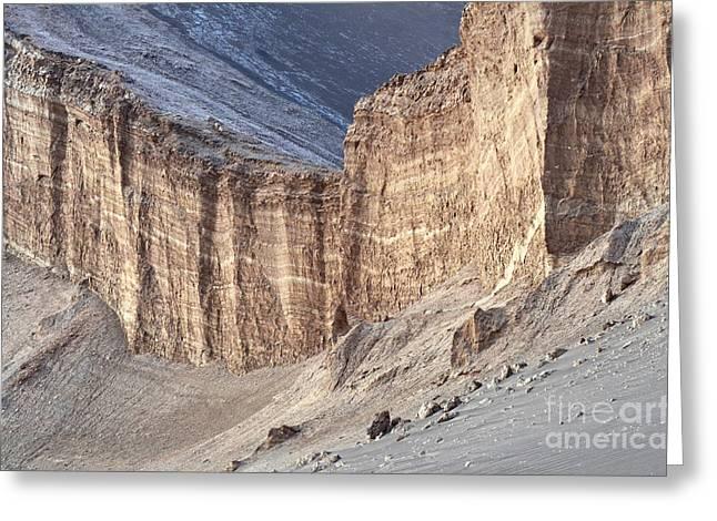 Valle De La Luna Chile 5 Greeting Card by Bob Christopher
