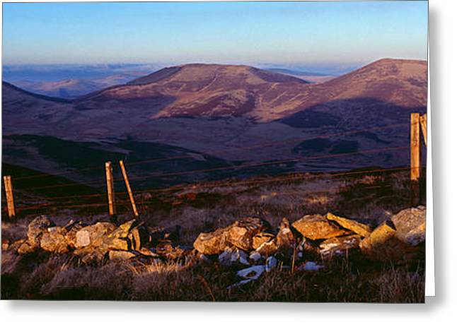 Valley At Dusk, Broughton Heights Greeting Card by Panoramic Images