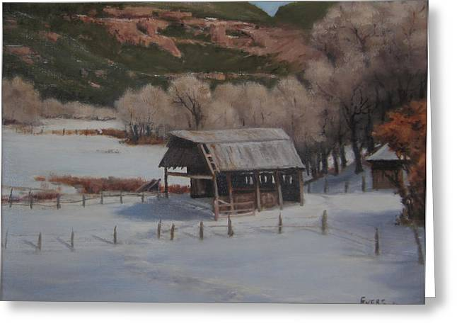 Valley At Rest Greeting Card by Mar Evers