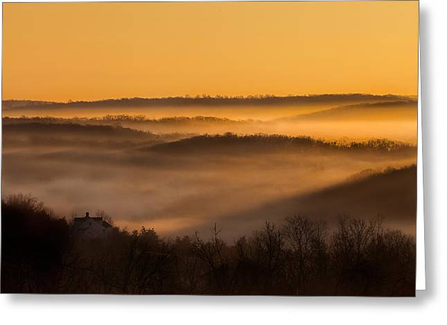 Valley Fog Greeting Card by Bill Wakeley