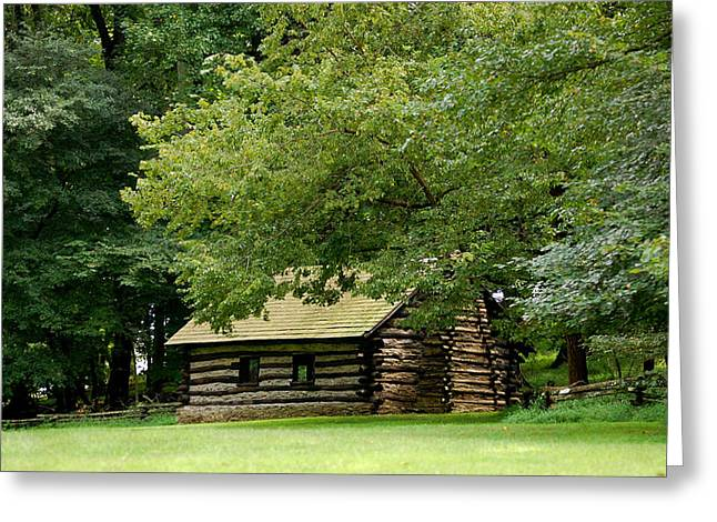 Valley Forge Cabin Greeting Card by Sherlyn Morefield Gregg